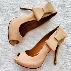 Carmel Suede Bow Schutz Heels